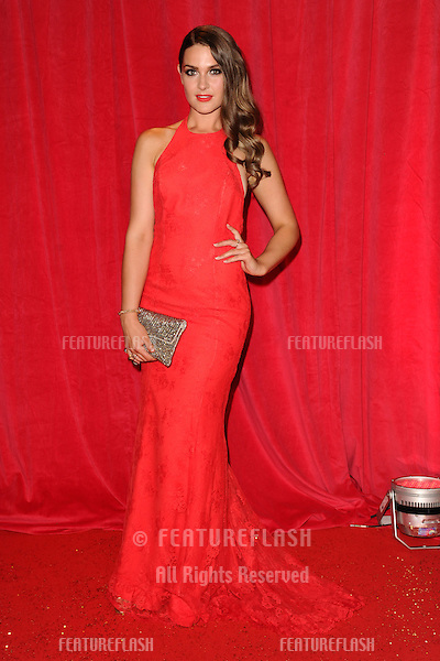 Anna Passey arriving for the 2014 British Soap Awards, at the Hackney Empire, London. 24/05/2014 Picture by: Steve Vas / Featureflash