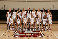 STANFORD, CA - OCTOBER 9:  Top row (l to r):  Jillian Harmon, Nneka Ogwumike, Morgan Clyburn, Kayla Pedersen, Sarah Boothe, Jayne Appel, Ashley Cimino, Michelle Harrison, and Jeanette Pohlen. Bottom row: Rosalyn Gold-Onwude, Grace Mashore, Hannah Donaghe, JJ Hones, Lindy La Rocque, and Melanie Murphy of the Stanford Cardinal during picture day on October 9, 2008 at Maples Pavilion in Stanford, California.