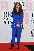 Rae Morris arrives for the BRIT Awards 2015 at the O2 Arena, London. 25/02/2015 Picture by: Steve Vas / Featureflash