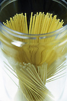 Spaghetti Strands in a Clear Container