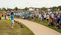 NWA Democrat-Gazette/BEN GOFF @NWABENGOFF<br /> Walkers make their way around Orchards Park Sunday, Sept. 10, 2017 during the 4th annual Northwest Arkansas Out of the Darkness Community Walk in Bentonville. Held on World Suicide Prevention Day, the walk is a fundraiser supporting the Arkansas Chapter of the American Foundation for Suicide Prevention. This year 552 walkers raised more than $42,000, according to Nikki Nance, walk chair with the chapter.