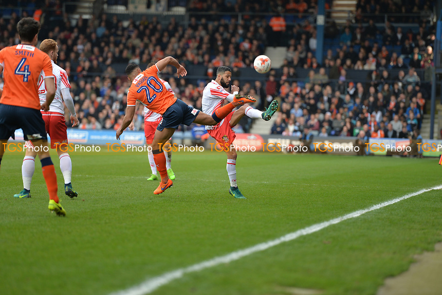 jobs McAnuff during Luton Town vs Stevenage, Sky Bet EFL League 2 Football at Kenilworth Road on 11th March 2017