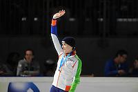 SCHAATSEN: DORDRECHT: Sportboulevard, Korean Air ISU World Cup Finale, 11-02-2012, Jorien ter Mors NED wint zilver op 1000m, ©foto: Martin de Jong