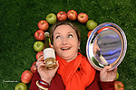 Geraldine Emerson, Stonewell Ros, Nohoval, Cork who won the Supreme Champion award for their cider  pictured  at the Blas na hEireann / Irish Food Awards in Dingle at the weekend.<br /> Photo: Don MacMonagle<br /> <br /> REPRO   PHOTO WITH BLAS NA HEIREANN<br /> further info: Barbara Collins - collib40@googlemail.com <br /> <br /> <br /> &copy; Photo by Don MacMonagle - macmonagle.com<br /> info@macmonagle.com