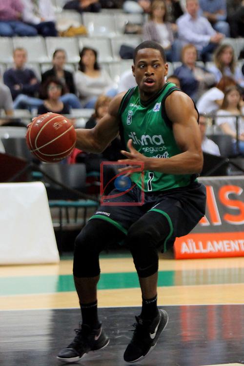 League ACB-ENDESA 2016/2017. Game: 28.<br /> Divina Seguros Joventut vs Herbalife Gran Canaria: 86-72.<br /> Terry Smith.