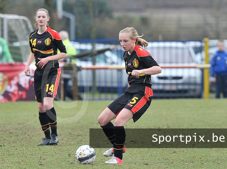 Denmark U17 - Belgium U17 : Inne De Smet.foto DAVID CATRY / Vrouwenteam.be