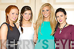 Erin O'Connor, Meaghan Brennan, Marion O'Sullivan and Maria Moriarty who modelled at the Castleisland Community College fashion show in the River Island Hotel on Thursday night..