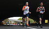 Marathoners run beneath the Sunrise Highway underpass on Wantagh Parkway during the Long Island Marathon on Sunday, May 6, 2018.<br />