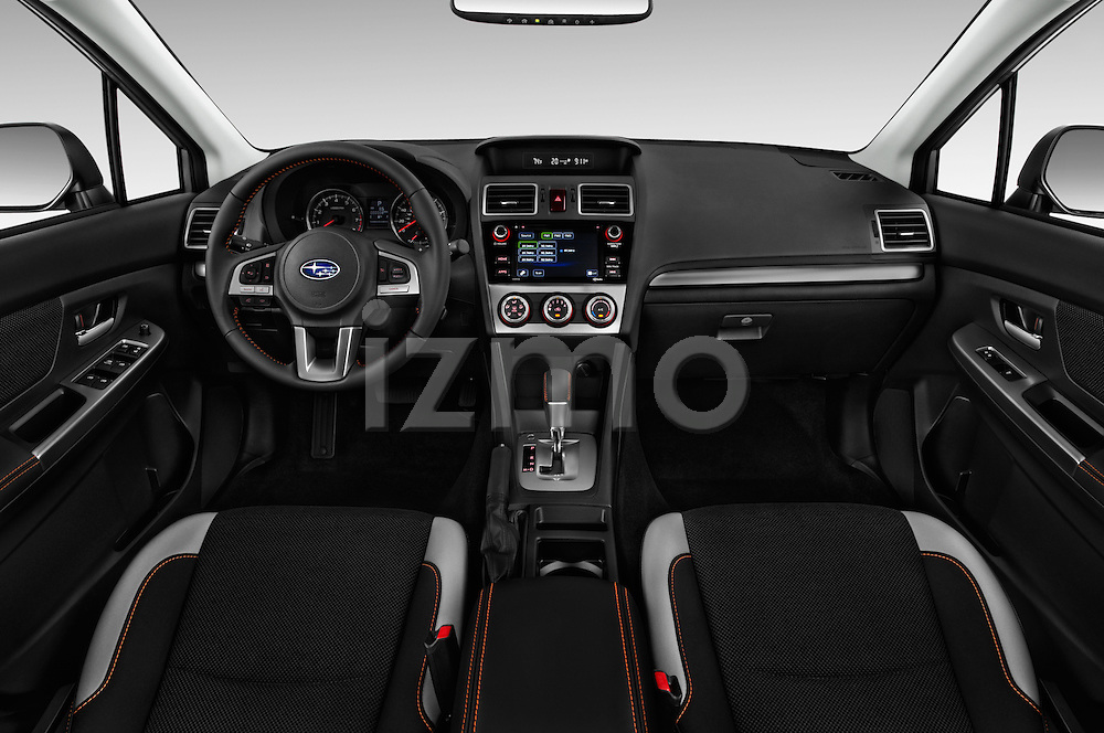 Stock photo of straight dashboard view of 2016 Subaru Crosstrek 2.0i Premium CVT 5 Door SUV Dashboard