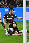 10.03.2018, BayArena, Leverkusen , GER, 1.FBL., Bayer 04 Leverkusen vs. Borussia Moenchengladbach<br /> im Bild / picture shows: <br /> vor dem Gladbacher tor mitte Kevin Volland (Leverkusen #31),  li Tony Jantschke (Gladbach #24),   <br /> <br /> <br /> Foto &copy; nordphoto / Meuter
