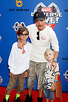 LOS ANGELES - JUL 8:  Clayne Crawford, sons_ at the Marvel Universe Live Red Carpet at the Staples Center on July 8, 2017 in Los Angeles, CA