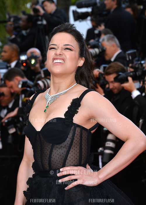 Michelle Rodriguez at the gala screening for &quot;BLACKKKLANSMAN&quot; at the 71st Festival de Cannes, Cannes, France 14 May 2018<br /> Picture: Paul Smith/Featureflash/SilverHub 0208 004 5359 sales@silverhubmedia.com