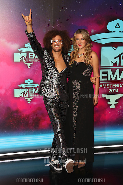 Victoria Azerenka and Redfoo arriving at the MTV EMA awards, Amsterdam, Netherlands. 10/11/20013 Picture by: Henry Harris / Featureflash