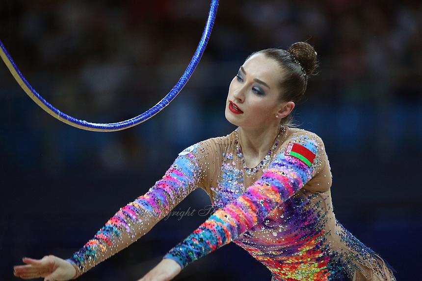 September 1, 2017 - Pesaro, Italy - KATSIARYNA HALKINA of Belarus performs in AA final at 2017 World Championships.