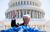 United States President Donald J. Trump delivers remarks at the 38th annual National Peace Officers' Memorial Service, at the U.S. Capitol in Washington, D.C. on May 15, 2019. <br /> Credit: Kevin Dietsch / Pool via CNP