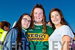 Laura Healy, Caoimhe Lehane and Aileen Keane all from Kilcummin, enjoying the Kerry Minor home coming at Kilcummin GAA pitch on Monday night last.
