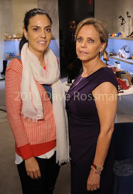 Maria Selgado and Maria Villanueva at a Dress for Dinner event featuring shoe designer Edgardo Osorio at Saks Fifth Avenue Wednesday Oct. 28, 2015.(Dave Rossman photo)