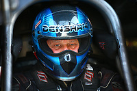 Mar 16, 2018; Gainesville, FL, USA; NHRA funny car driver Gary Densham during qualifying for the Gatornationals at Gainesville Raceway. Mandatory Credit: Mark J. Rebilas-USA TODAY Sports