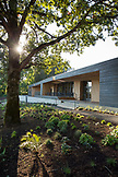 USA; Oregon; Willamette Valley; exterior of the modern tasting room at Sokol Blosser Winery; Dayton