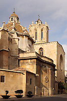 The Cathedral; XII Century, Tarragona, Catalonia, Spain; finest example of transitional architecture, contrasting both Romanesque and Gothic aesthetics; Perched on the hilltop of the historical centre, it overlaps the site of a former Roman temple. Picture by Manuel Cohen
