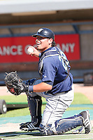 June 14 2008:  Catcher Ali Solis (28) of the Fort Wayne Wizards, Class-A affiliate of the San Diego Padres, during a game at Fifth Third Field in Comstock Park, MI.  Photo by:  Mike Janes/Four Seam Images