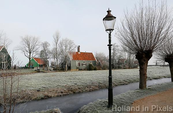 Nederland Zaanse Schans. 2017-01-18 .  Winter in Zaanse Schans.  Foto Berlinda van Dam / Hollandse Hoogte