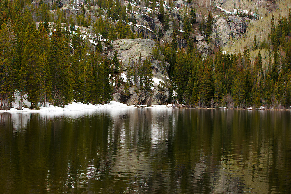 Bear Lake is pictured in Rocky Mountain National Park, Colorado on Wednesday, May 31, 2017. (Photo by James Brosher)