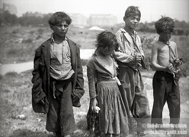 Spanish peasant children, 1940s