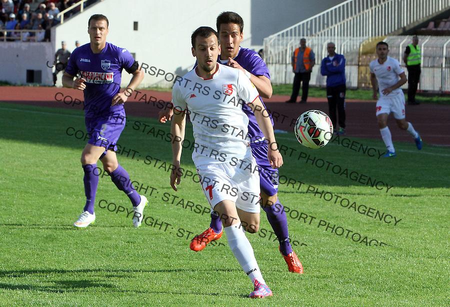 Fudbal Super liga season 2014-2015<br /> Radnicki (Nis) v Novi Pazar<br /> Petar Djurickovic Radnicki Nis<br /> Nis, 03.04.2015.<br /> foto: Sasa Djordjevic/Starsportphoto &copy;