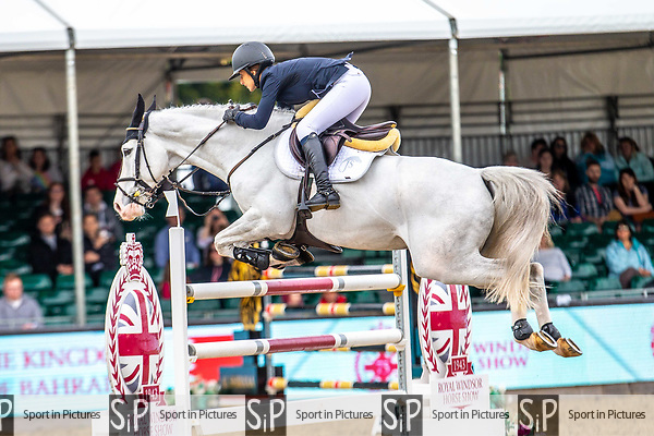 Day 5. Royal Windsor Horse Show. Windsor. Berkshire. UK.  Showjumping. Palm Speed Stakes. CSI5*. Janika Sprunger rides Charlie Boy. SUI.13/05/2018. ~ MANDATORY Credit Elli Birch/Sportinpictures - NO UNAUTHORISED USE - 07837 394578