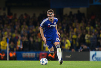 Gary Cahill of Chelsea in action during the UEFA Champions League match between Chelsea and Maccabi Tel Aviv at Stamford Bridge, London, England on 16 September 2015. Photo by Andy Rowland.