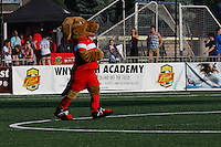 Rochester, NY - Saturday June 11, 2016: Western New York Flash Mascot during a regular season National Women's Soccer League (NWSL) match between the Western New York Flash and the Orlando Pride at Rochester Rhinos Stadium.