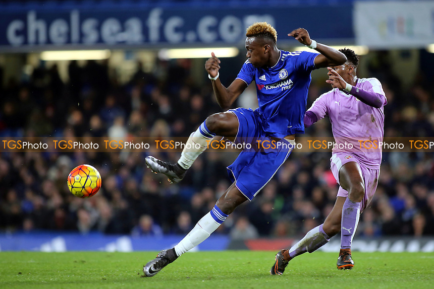 Tammy Abraham of Chelsea in action during Chelsea Youth vs Reading Youth, FA Youth Cup Football at Stamford Bridge