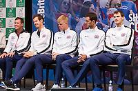 Gent, Belgium, November 26, 2015, Tennis, Davis Cup Final, Belgium-Great Britain, draw ceremonie, The team of Great Britain, <br /> Photo: Tennisimages/Henk Koster