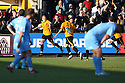 Danny Wright of Cambridge United celebrates scoring the winning goal during the Blue Square Bet Premier match between Cambridge United and York City at the Abbey Stadium, Cambridge on 19th March, 2011.© Kevin Coleman 2011