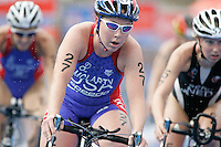 01 SEP 2007 - HAMBURG, GER - Sara McLarty (USA) - Elite Womens World Triathlon Championships. (PHOTO (C) NIGEL FARROW)