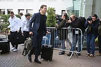 Teammanager der Nationalmannschaft Oliver Bierhoff (Deutschland Germany) und Bundestrainer Joachim Loew (Deutschland Germany) - 04.10.2017: Deutschland Teamankunft, Stormont Hotel Belfast