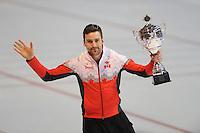 SCHAATSEN: ERFURT: Gunda Niemann Stirnemann Eishalle, 22-03-2015, ISU World Cup Final 2014/2015, winner 1500m Men World Cup, Denny Morrison (CAN), ©foto Martin de Jong