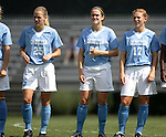 Lindsay Tarpley (25), Heather O'Reilly (20), and Lori Chalupny (17), of UNC, on Sunday September 18th, 2005 at Duke University's Koskinen Stadium in Durham, North Carolina. The University of North Carolina Tarheels defeated the University of Alabama-Birmingham Blazers 4-0 during the Duke adidas Classic soccer tournament.