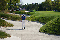 Jon Rahm (ESP) on the 13th fairway bunker during the 1st round at the PGA Championship 2019, Beth Page Black, New York, USA. 17/05/2019.<br /> Picture Fran Caffrey / Golffile.ie<br /> <br /> All photo usage must carry mandatory copyright credit (&copy; Golffile | Fran Caffrey)