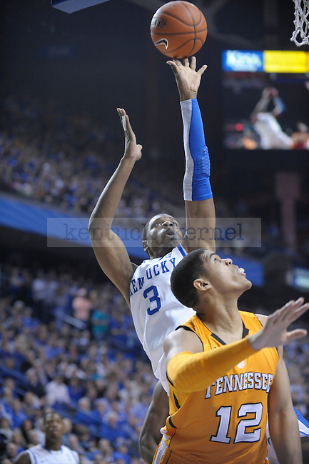 UK's Terrence Jones puts it up during the first half of the University of Kentucky Men's basketball game against Tennessee at Rupp Arena in Lexington, Ky., on 2/8/11. Uk led at half 35-28. Photo by Mike Weaver | Staff