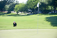 Cristie Kerr (USA) chips on to 18 during one of six playoff holes with Haru Nomura (JPN) during round 4 of  the Volunteers of America Texas Shootout Presented by JTBC, at the Las Colinas Country Club in Irving, Texas, USA. 4/30/2017.<br /> Picture: Golffile | Ken Murray<br /> <br /> <br /> All photo usage must carry mandatory copyright credit (&copy; Golffile | Ken Murray)