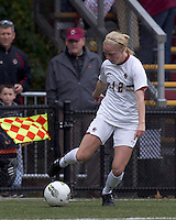 Boston College midfielder Julia Bouchelle (12) crosses the ball. Boston College defeated North Carolina State,1-0, on Newton Campus Field, on October 23, 2011.