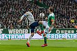 08.03.2019, Weserstadion, Bremen, GER, 1.FBL, Werder Bremen vs FC Schalke 04<br /> <br /> DFL REGULATIONS PROHIBIT ANY USE OF PHOTOGRAPHS AS IMAGE SEQUENCES AND/OR QUASI-VIDEO.<br /> <br /> im Bild / picture shows<br /> Benjamin Stambouli (FC Schalke 04 #17) im Duell / im Zweikampf mit Max Kruse (Werder Bremen #10), <br /> <br /> Foto &copy; nordphoto / Ewert