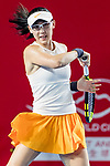 Zheng Saisai of China competes against Aleksandra Krunic of Serbia during the singles first round match at the WTA Prudential Hong Kong Tennis Open 2018 at the Victoria Park Tennis Stadium on 08 October 2018 in Hong Kong, Hong Kong. Photo by Yu Chun Christopher Wong / Power Sport Images