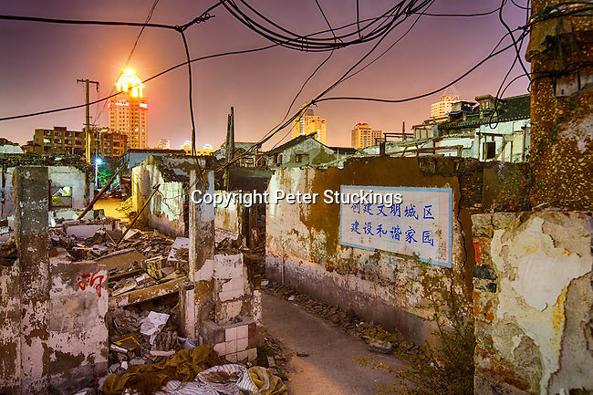 Old Shanghai neighbourhood, vanishing fast.