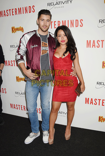 HOLLYWOOD, CA - SEPTEMBER 26: Hairstylist Jeff Wittek (L) and actress/singer Cierra Ramirez attend the premiere of Relativity Media's 'Masterminds' held at TCL Chinese Theatre on September 26, 2016 in Hollywood, California.<br /> CAP/ROT/TM<br /> &copy;TM/ROT/Capital Pictures