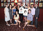 Robert Fairchild and Leanne Cope with the cast of 'An American in Paris' attend 'An American In Paris' Sardi's Caricature Unveiling at Sardi's on May 28, 2015 in New York City.