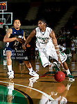North Texas Mean Green guard Alzee Williams (3) and Jackson State Tigers guard Christian Williams (13) in action during the game between the Jackson State Tigers and the University of North Texas Mean Green at the North Texas Coliseum,the Super Pit, in Denton, Texas. UNT defeated Jackson State 69 to 55.