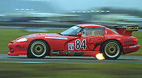 The #84 Dodge Viper RT/10 of Bertrand Balas, Thierry Lecerf, Marco Spinelli, Bob Hebert, and Jose Close races to a 52nd place finish in the 24 Hours of Daytona, IMSA race, Daytona International Speedway, Daytona Beach , FL, February 4, 1996.  (Photo by Brian Cleary/www.bcpix.com)
